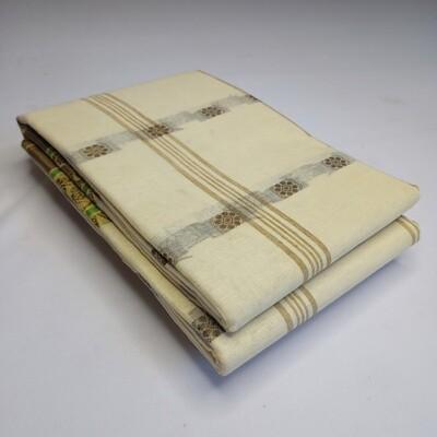 sundori beige bengali Tant saree hand weaved Fuliya