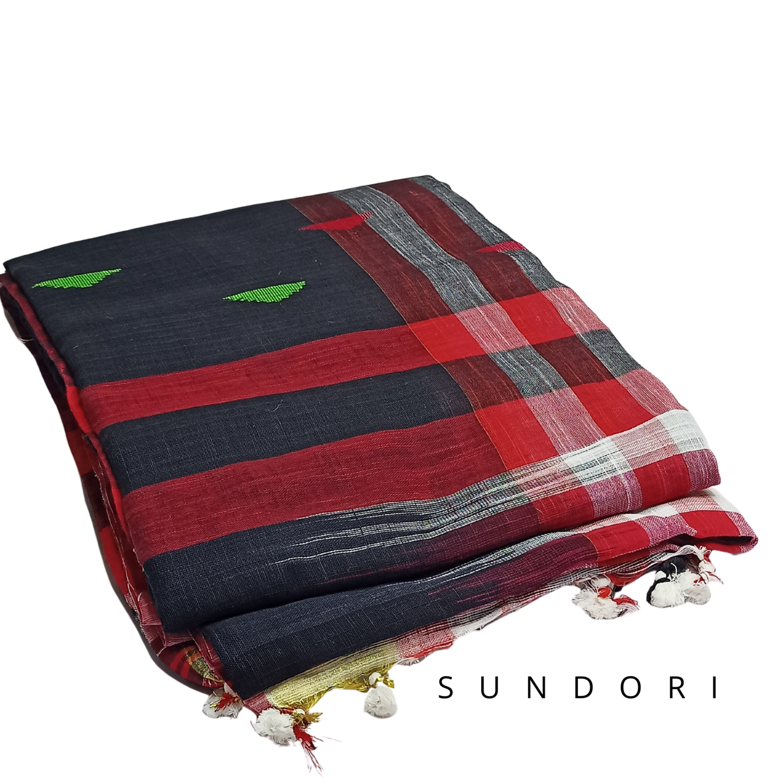 sundori Bengali cotton handspun saree