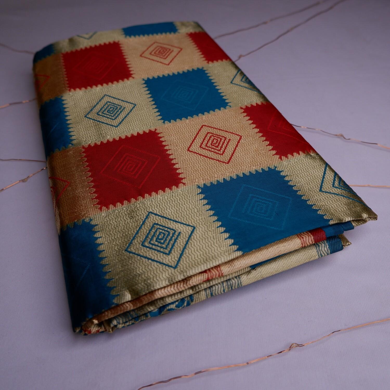 Golden Baluchari Saree on Pure Bishnupuri Silk