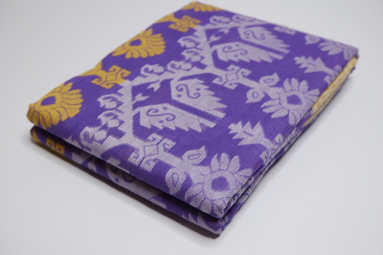 sundori dhakai jamdani saree purple
