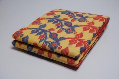 sundori gap dhakai jamdani custard yellow
