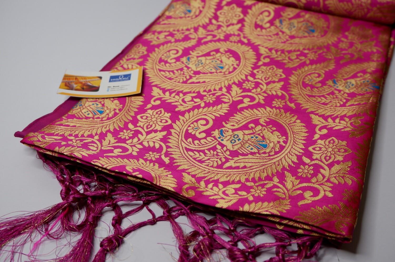 magenta swarnachari full body baluchari silk blended