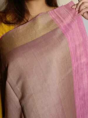original Pure tussar silk Saree hand woven