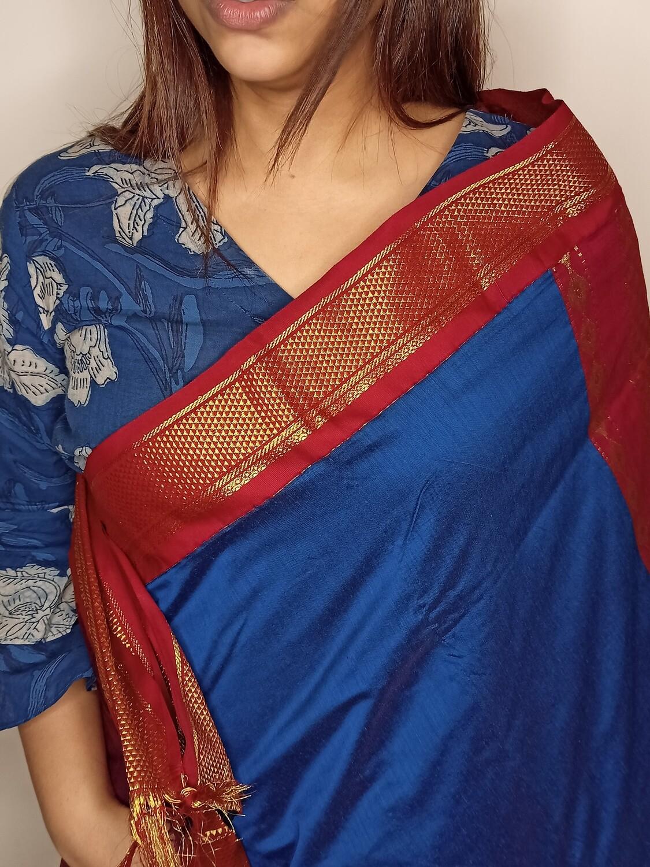 Sundori Pure Madurai Sungudi Saree Royal Blue