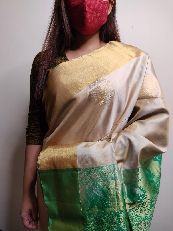 Sundori Madanapalle silk saree in Beige