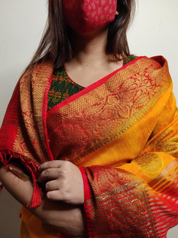 Sundori Soft Silk Pure Tussar Banarasi Saree