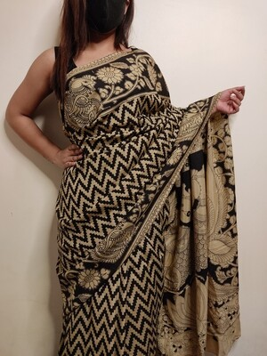 kalamkari on pure silk saree by Sundori