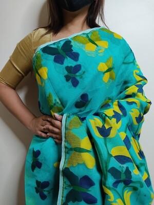 Soft Dhakai in Blue by sundori