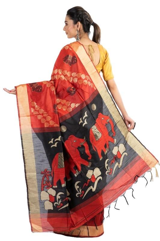 Sundori Ghicha Silk Saree