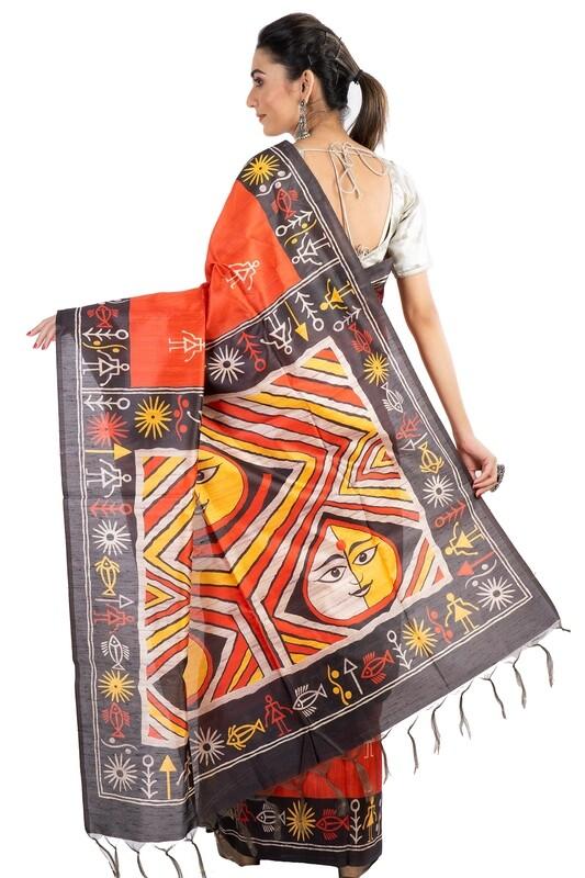 Sundori Madhubani Silk Saree