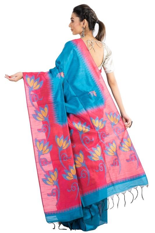 Sundori Lotus Bhagalpuri Saree