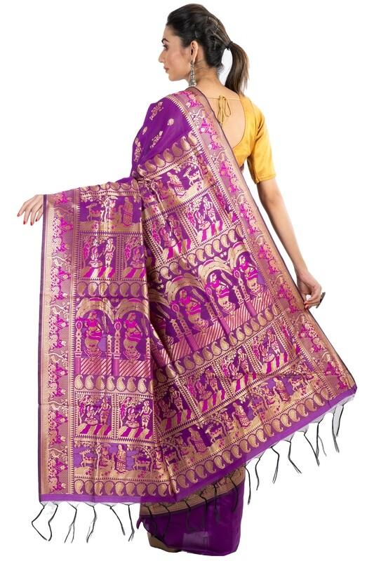 Sundori Purple Baluchari