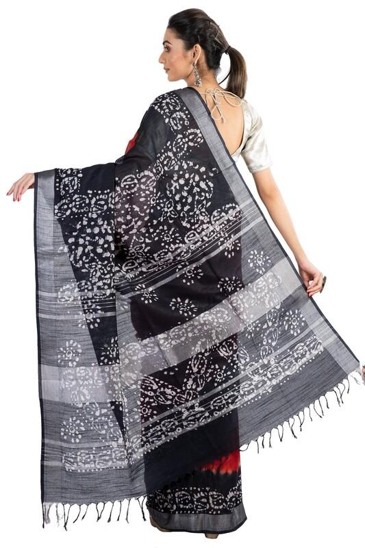 Sundori Linen Batik Saree