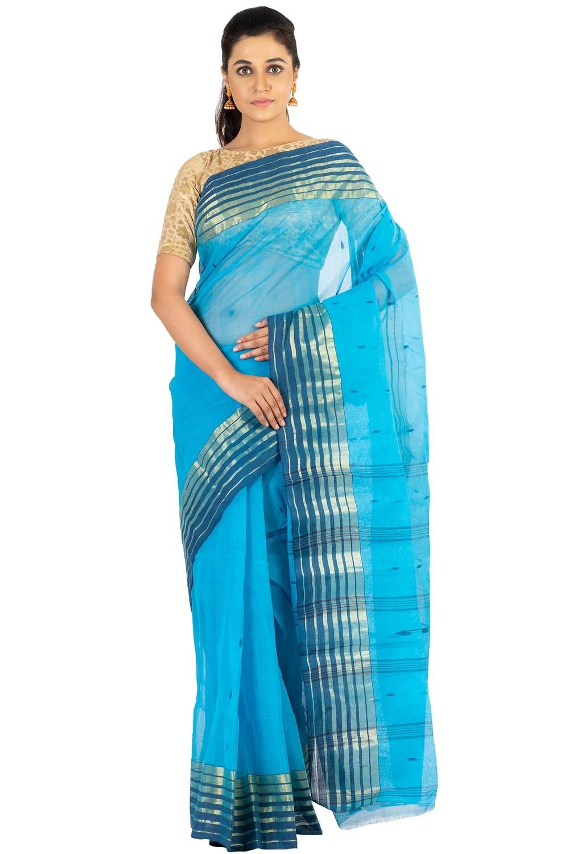 Sundori Tangail Cotton saree | Pure cotton |Bengali Traditional Tant | Fall Pico Ready | Tute