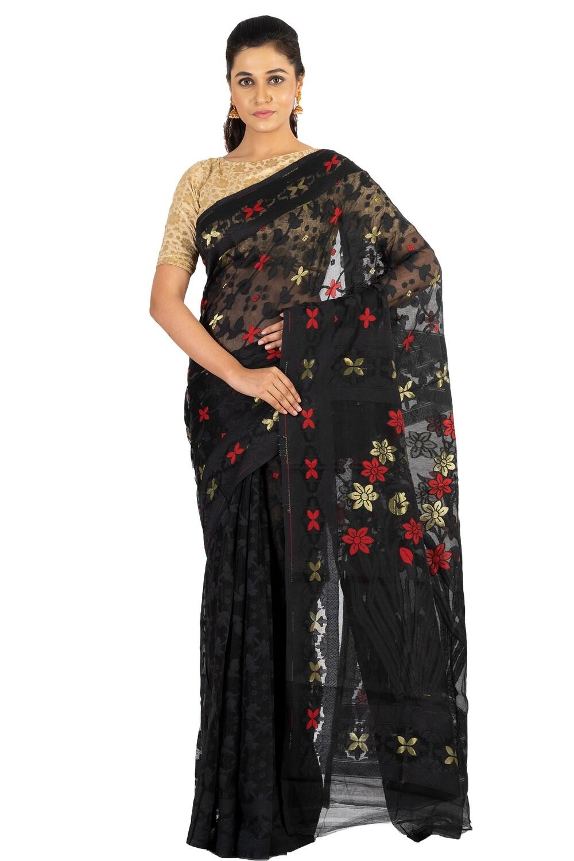 Sundori  Jamdani  Resham Saree | Cotton Weaved Motif |Soft Dhakai