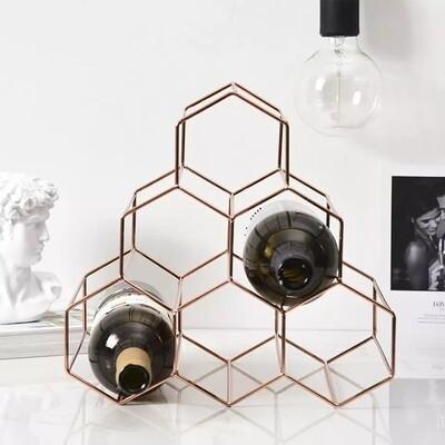 6 bottle Honey Cone Wine Rack