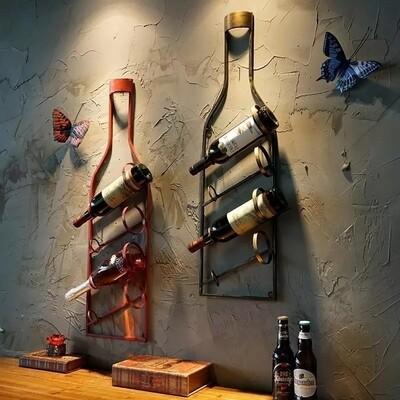 Vintage Wall Wine Rack