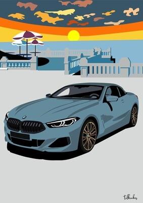 Light Blue BMW 8-series Artwork