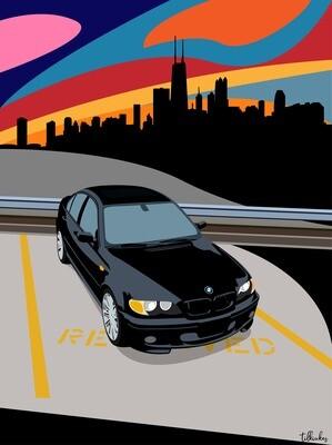 Black BMW e46 ZHP Artwork