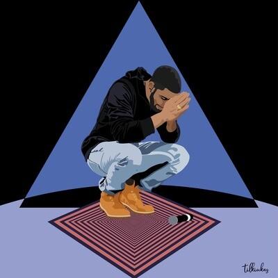 Surreal Praying Drake Artwork