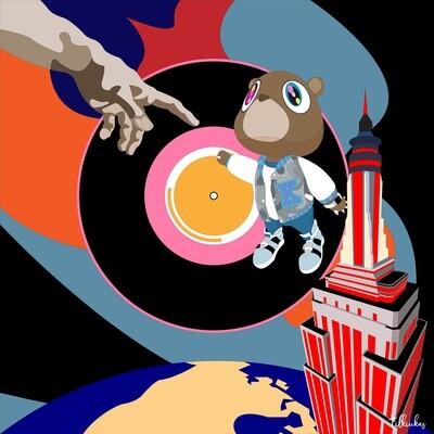 Kanye West Touching God's Hand Artwork