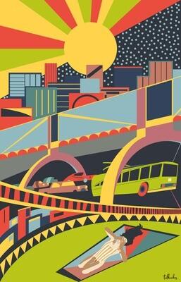 Modern Kaunas City Artwork