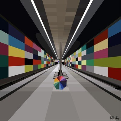 Metro Station in Berlin Artwork