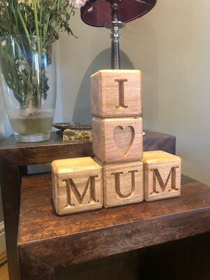 Customise Oak Cubes