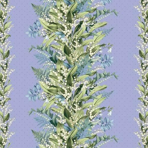 Бязь Комфорт 150 см набивная Тейково рис 13098 вид 1 Весеннее пробуждение