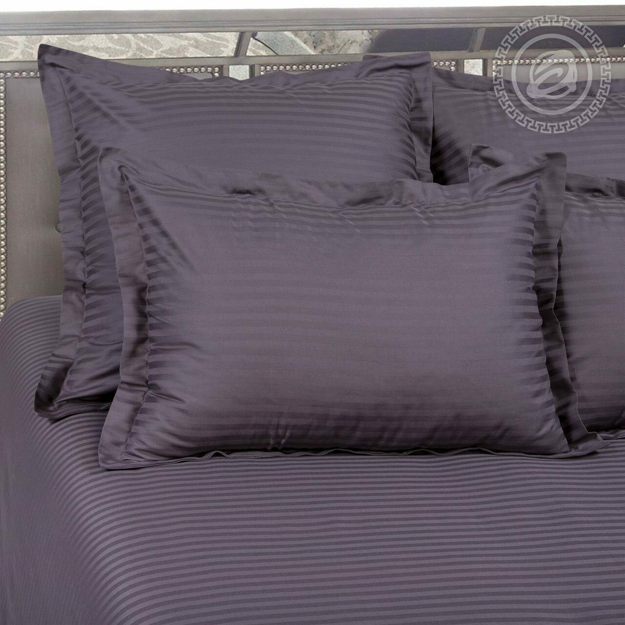 Мокрый асфальт, Страйп - сатин (Комплекты постельного белья)