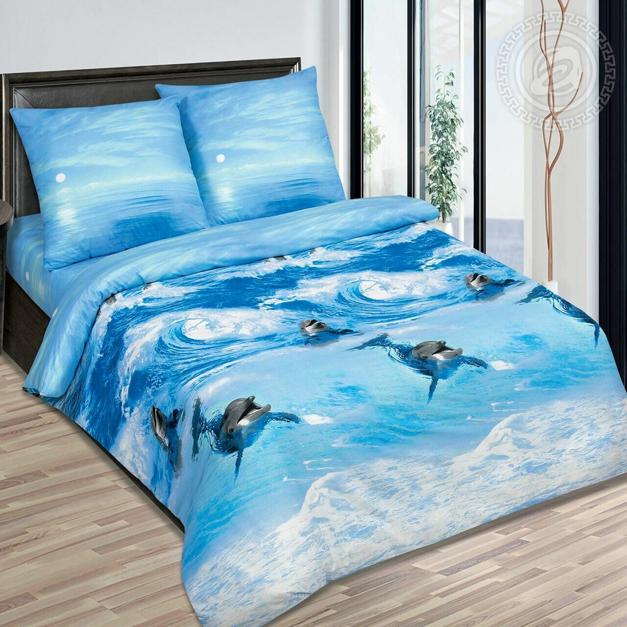 Дельфины - DE LUXE  (Комплекты постельного белья)