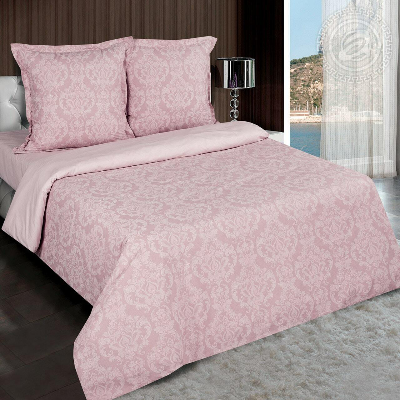 """Византия (Розовый) - DE LUXE """"Радуга""""  (Комплекты постельного белья)"""