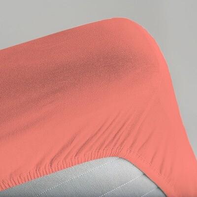 Простыня на резинке Unison Color Alchemy (Коралл)