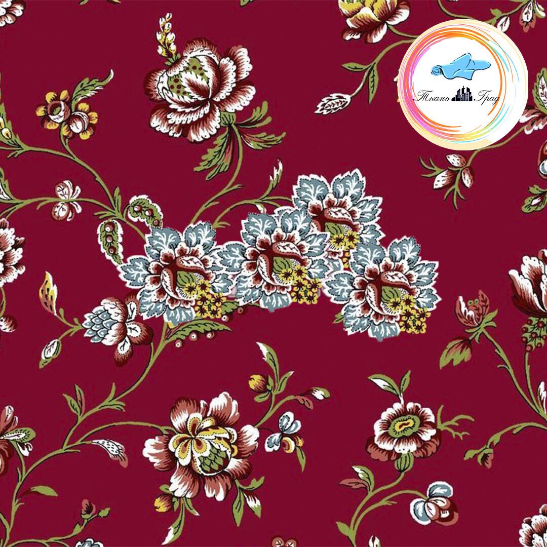 Ткань Ситец 80 см - 93762 - Красный