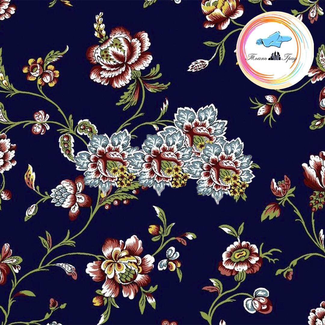 Ткань Ситец 80 см - 93761 - Темно-синий