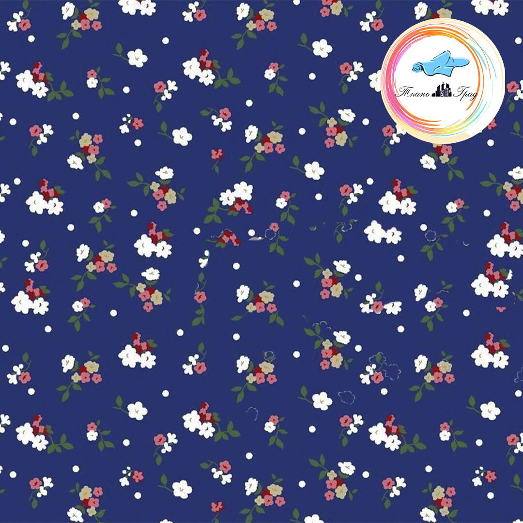 Ткань Ситец 80 см - 93431 - Синий