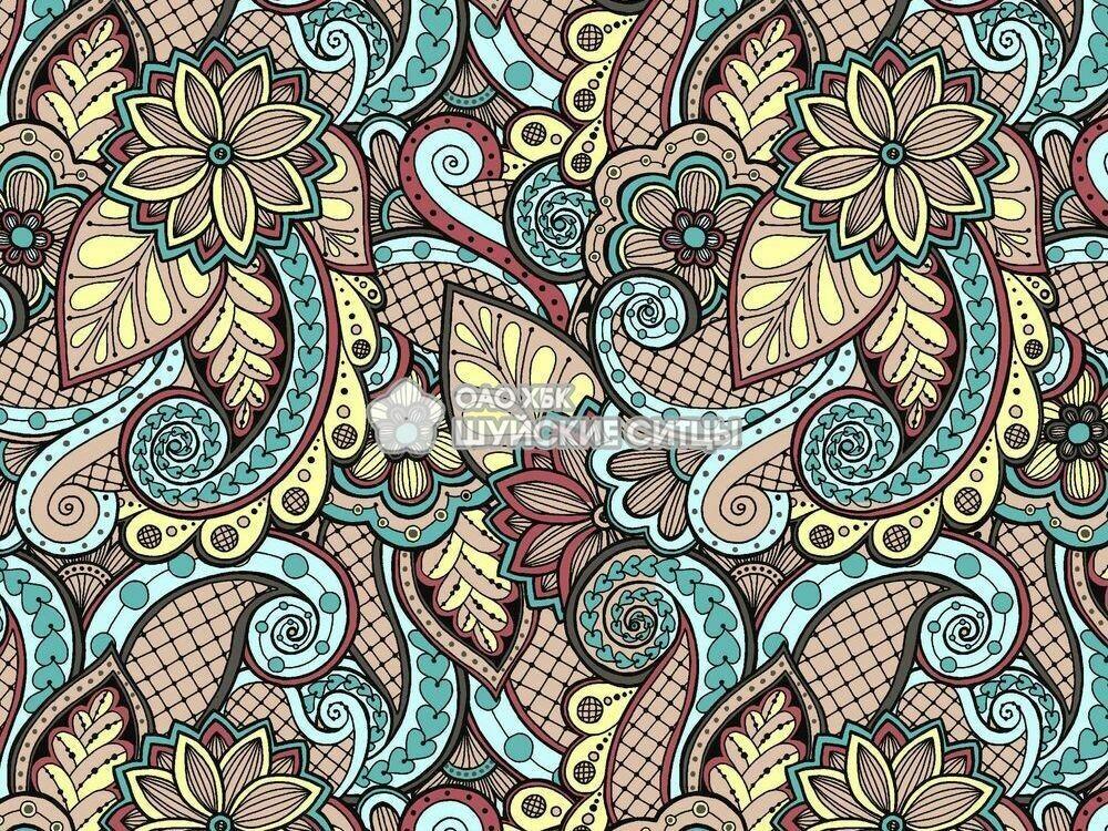 Ткань Ситец 80 см - 92902 - Желтый