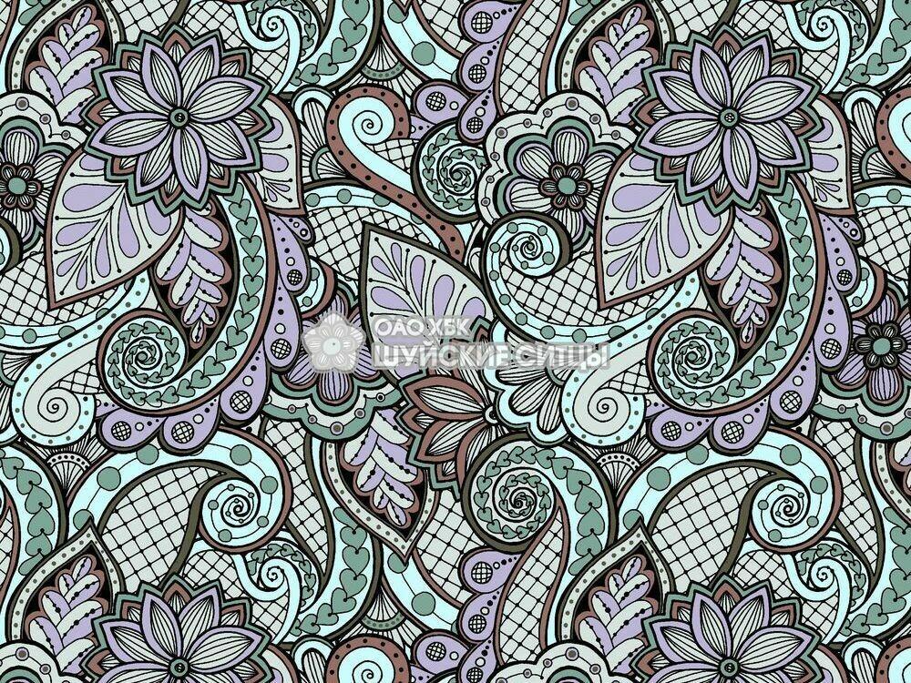 Ткань Ситец 80 см - 92901 - Сиреневый