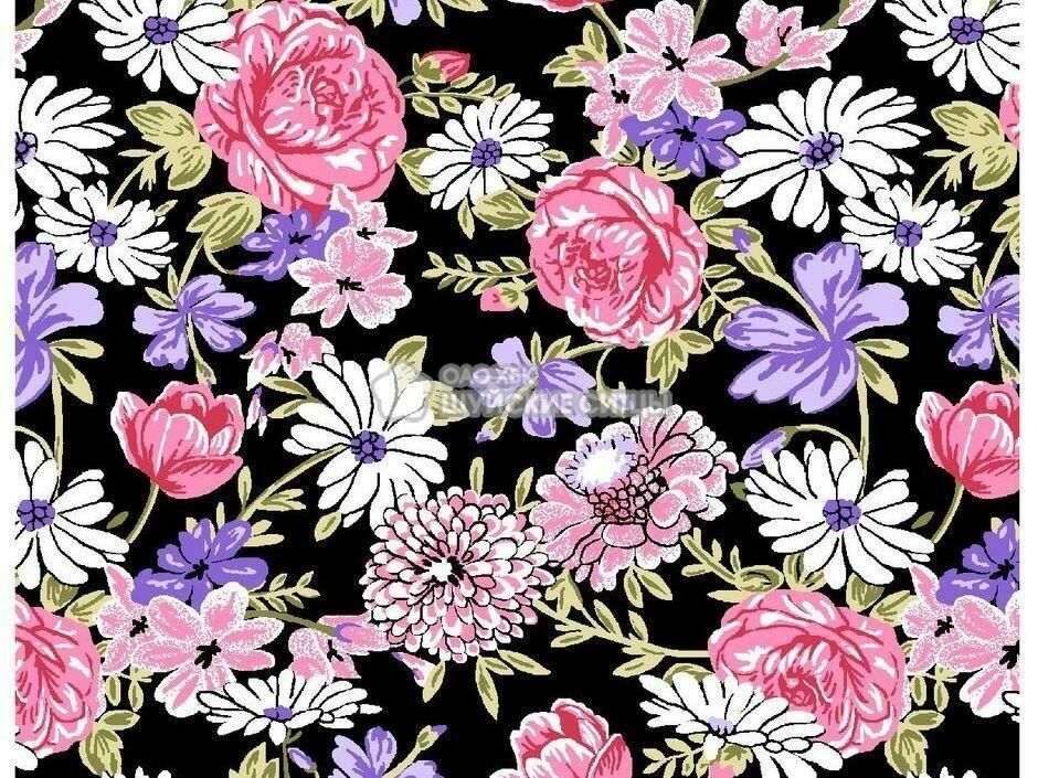 Ткань Ситец 80 см - 91121 - Розы
