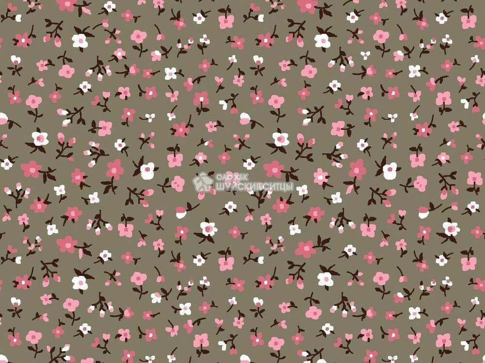 Ткань Ситец 80 см - 89893 - Розовые цветы