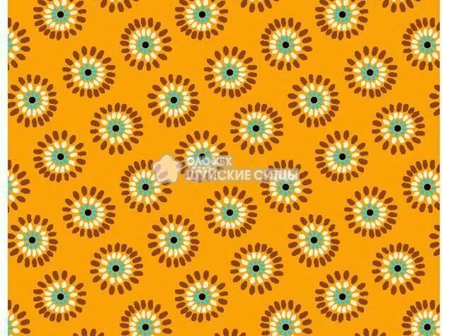 Ткань Ситец 80 см - 89851 - Оранжевый фон