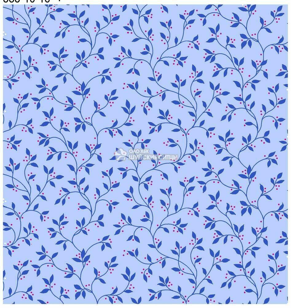 Ткань Ситец 80 см - 89872 - Голубой фон