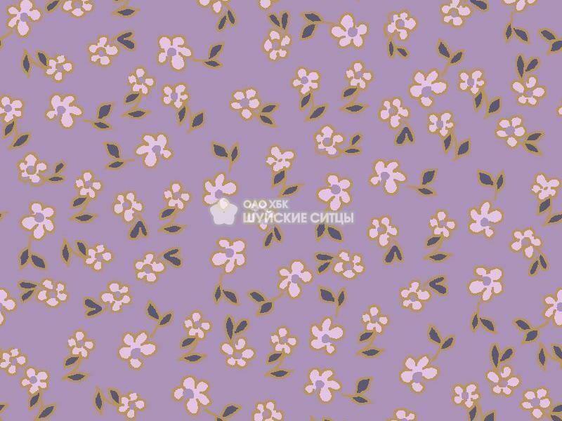 Ткань Ситец 80 см - 89821- Фиолетовый фон