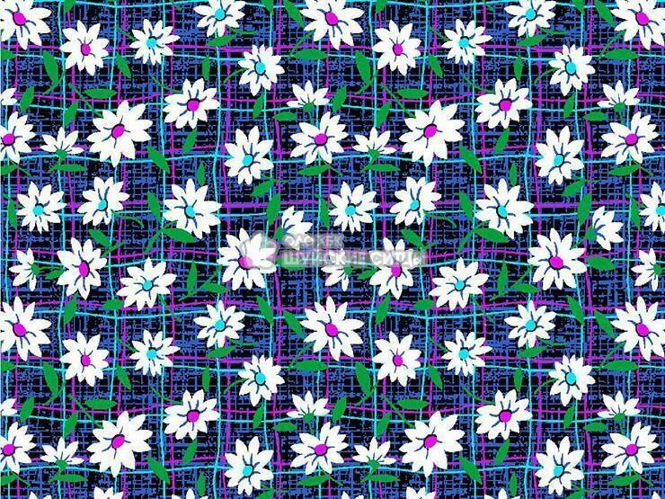 Ткань Ситец 80 см - 88381 - Темный фон