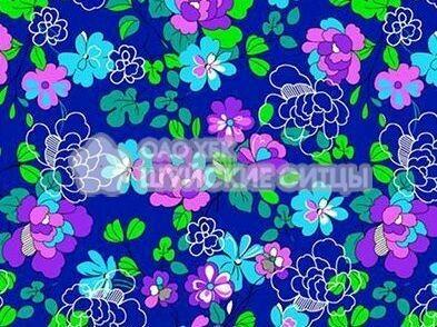 Ткань Ситец 80 см - 88141 - Темно - синий фон