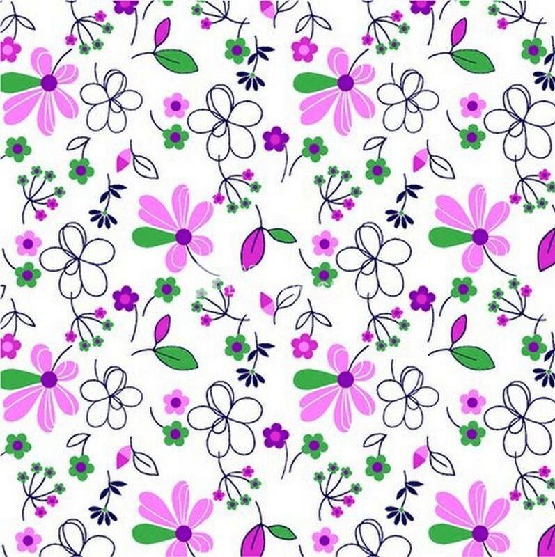 Ткань Ситец 80 см - 86212 - Розовый