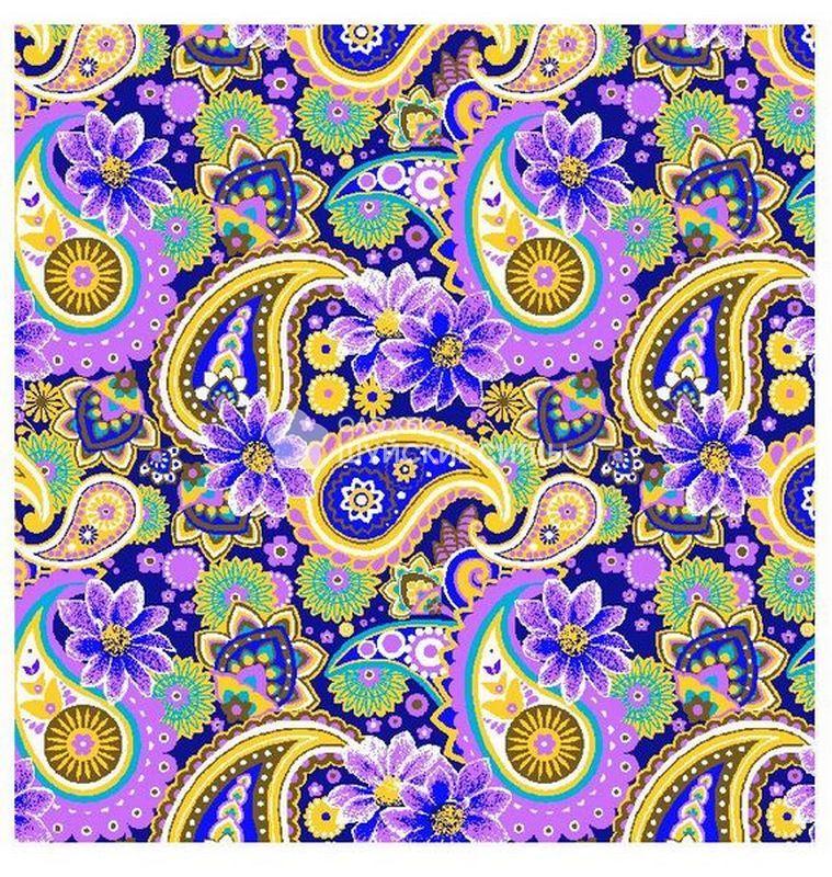 Ткань Ситец 80 см - 77561 - Фиолетовый фон