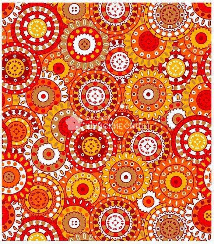 Ткань Ситец 80 см -  77161 - Оранжевый