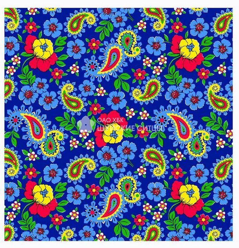 Ткань Ситец 80 см -  72221 - Синий фон