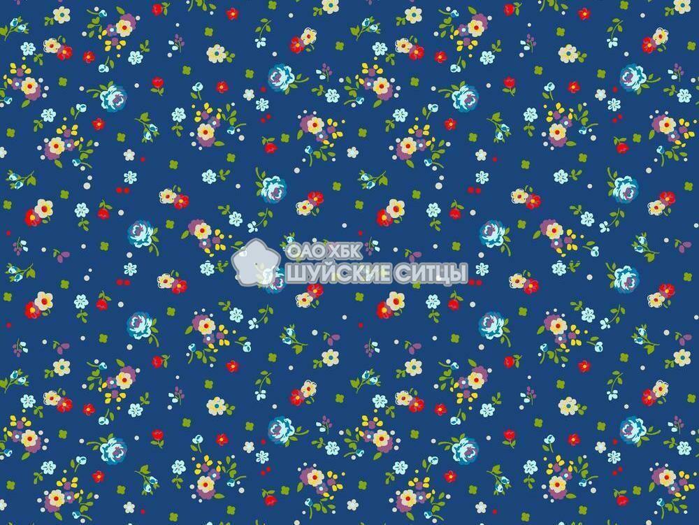 Ткань Ситец 150 97043 - Синий фон